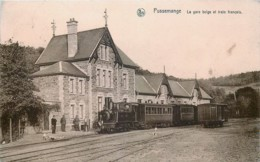 Belgique - Vresse-sur-Semois - Pussemange - La Gare Belge Et Le Train Français - Vresse-sur-Semois