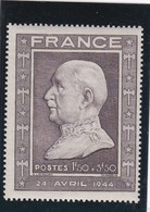 FRANCE 1944 - N° 606 Brun Gris  -NEUF XX  - 88° Anniversaire Du Maréchal Pétain        - REF 24-24 - Neufs