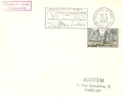 MOUSTIERS STE MARIE GORGES DU VERDON 1965 FLAMME CONCORDANTE PREMIER JOUR TIMBRE N° 1436 - Maschinenstempel (Werbestempel)