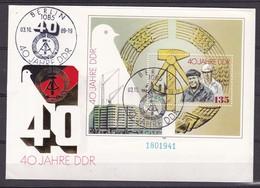 DDR - 1989 - Michel Nr. Block 100 - FDC - 20 Euro - DDR