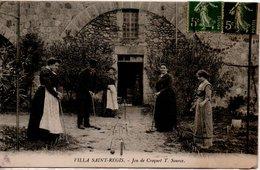 07 LA BEGUDE LABEGUDE VALS LES BAINS JEU CROQUET SAINT REGIS VILLA ARDECHE SOURCE EAU EAUX - France