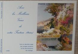 Petit Calendrier Poche 1993 Lavigne PTT Facteur  La Poste Affiche Ancienne Paris Lyon Méditerranée - Petit Format : 1991-00