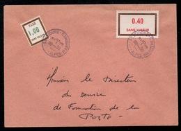 SAINT ISIDORE - ALPES MARITIMES - FICTIFS / 1973 COURS D'INSTRUCTION SUR LETTRE TAXEE  (ref LE3099) - Fictifs