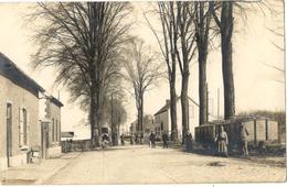 1917 Vroenhoven Grens Vroenhoven - Maastricht (Wolder) Met O.a. Mensen En Trein Wagons Fotokaart - Belgique