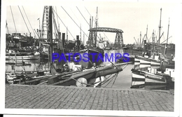 106353 ARGENTINA BUENOS AIRES BRIDGE PUENTE LA BOCA & SHIP PHOTO NO POSTAL POSTCARD - Photographie