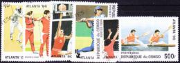 Kongo-Brazzaville - Olympiade Atlanta (Mi.Nr.: 1437/42) 1996 - Gest Used Obl - Congo - Brazzaville