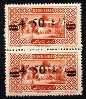 Col11   Grand Liban Variété N° 77 Paire Neuf XX MNH Cote  80,00 Euros - Grand Liban (1924-1945)