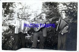 106354 ARGENTINA COSTUMES MAN'S WITH ACORDEON & GUITAR MUSIC CUT  PHOTO NO POSTAL POSTCARD - Photographie