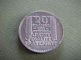 Pièce En Argent De 20 Francs De 1933 (P.Turin) - Frankreich