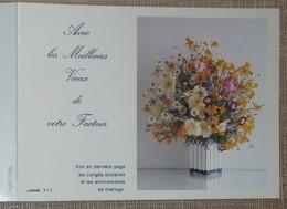 Petit Calendrier Poche 1989 Lavigne PTT Facteur  La Poste Bouquet De Fleurs - Calendriers