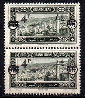 Col11   Grand Liban Variété N° 76 Paire Neuf XX MNH Cote  80,00 Euros - Great Lebanon (1924-1945)