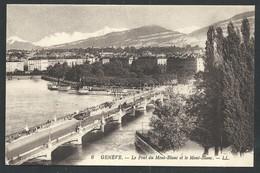 +++ CPA - Suisse - GENEVE - Le Pont Du Mont Blanc Et Le Mont Blanc  // - GE Geneva