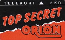Denmark, TP 027, Orion Top Secret,Only 10000 Issued, 2 Scans. - Denmark