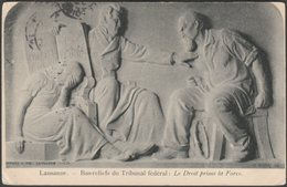 Bas-reliefs Du Tribunal Fédéral, Lausanne, 1904 - Corbaz & Cie CPA - VD Vaud