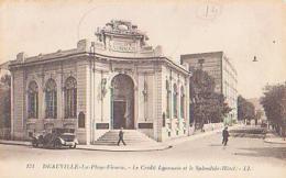 Calvados        1010         Deauville.Le Crédit Lyonnais Et Le Splendid  Hôtel - Deauville