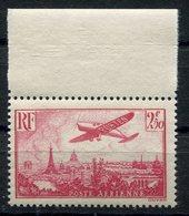 RC 11296 FRANCE PA N° 11 - 2f50 ROSE AVION SURVOLANT PARIS LUXE COTE 50€ NEUF ** TB - Airmail