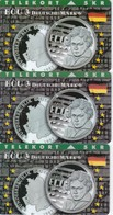 Denmark, TP 047A, 047B And 047C, ECU-Germany, Mint, Only 2000, 2500 And 1200 Issued, Coins, 2 Scans - Denmark