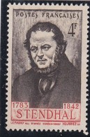 FRANCE Y/T  N°550b Avec Variété  - HENRY BEYLE Dit STENDHAL (1783-1842) -NEUF XX  Sans Gomme  - REF 24-24 - Neufs