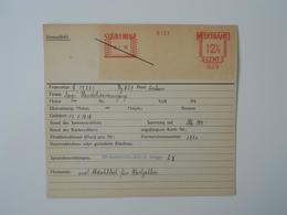 Archiefkaart, Archive Card, Textiel, Textile - Textile