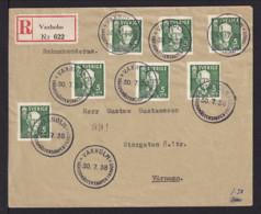 1938 - Sonderstempel Vaxholm WM Im Kanu - Einschreibbrief - Canoë