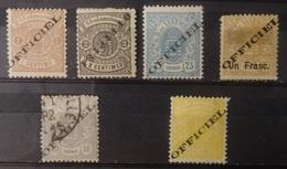 Luxemburg  Dienstzegels  1875  Nr. 10 I / 11 I / 14 I / 16 I / 17 I En 13 IA     Zie Beschrijving / Foto   CW  95,00 - Officials