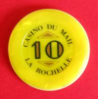 Jeton De Casino De Dix Unités - La Rochelle - Casino Du Mail - Casino