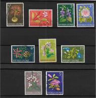 Sierra Leone, 1963 Flowers Selection To 5/- Used (7403) - Sierra Leone (1961-...)