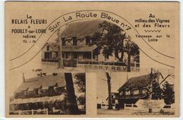 1 Cpa Pouilly Sur Loire - Le Relais Fleuri - Pouilly Sur Loire