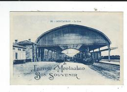 CPA 81 Montauban Gare Bon Souvenir  Neuve TBE Ed Artaud 90 - Montauban