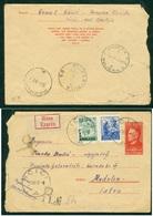 Yugoslavia 1950 Ambulance Bahnpost Railway Mail Post Rijeka - Pula 25 Sent From Icici To Medulin Stationrey WITH BUS - 1945-1992 Socialist Federal Republic Of Yugoslavia
