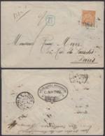 """Madagascar 1903 -Yv.37 Sur Lettre Recommandé De """"DIEGO-SUAREZ """" Vers Paris (6G19424) DC 1551 - Covers & Documents"""