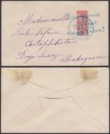 """Madagascar 1904 - Yv.82  1/2 Timbre Sur Lettre De """" DIEGO-SUAREZ """" Signé Calves  (6G19424) DC 1553 - Madagascar (1889-1960)"""