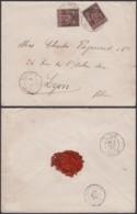 """Madagascar 13/11/1895 - Yv.17x2 Sur Lettre """" Majunga """" Vers Lyon  (6G19424) DC 1557 - Lettres & Documents"""