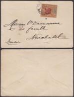 Madagascar 10/12/1913 - TP Sultanat D'Anjouan De Tananarive Vers Suisse  (6G19424) DC 1558 - Lettres & Documents