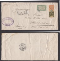"""Madagascar 1912 - Yv.37+46+97 Sur Lettre Recommandé De """" TANATAVE """" Vers Suisse (6G19424) DC 1560 - Madagascar (1889-1960)"""