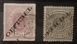 Luxemburg  Dienstzegels  Raar !!   1875  Nr. 3 I    Stempel Type II   Zie Foto - Officials