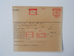 Archiefkaart, Archive Card, Insurance, Tiel Utrecht - Stamps