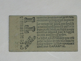 "Ancien Ticket Omnibus "" TI "" ( Vert Clair ). Compagnie Générale Des Omnibus, Ticket Metro. - Tramways"