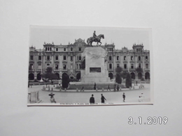 Lima. - Monumento Y Plaza San Martin. - Peru