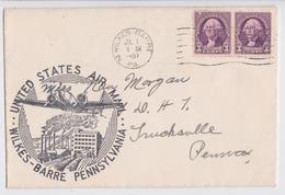 WILKES-BARRE PENNSYLVANIA AIR MAIL SERVICE 1937 - Air Mail