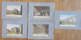 Italie - Lot De 5 Gravures Colorisées - Campo-Santo, Maria Della Spina, Veduta Della Certosa Fuori Di Pisa, Etc... - Lithographies