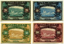 Austria, Pressbaum (Niederösterreich) Notgeld 20, 40, 50, 80 Heller - Autriche