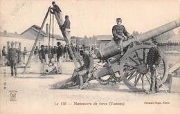 ¤¤   -  VANNES    -   Manoeuvre De Force   -  Matériel Militaire , Canon  -  ¤¤ - Vannes
