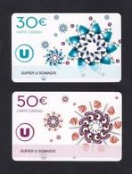 2  Carte Cadeau  SUPER U  SOMADIS.     Gift Card. Geschenkkarte - Gift Cards