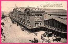 Paris - Gare Du Nord Par HITTORFF - Tramway - Attelage Marchandise - Calèche - Animée - E.L.D. - 1912 - Métro Parisien, Gares