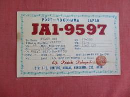 Kenichi Kobayashi  Ham   Radio-Japan > Yokohama   Ref 3131 - Yokohama