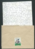 Au Dos D'1 Lac De Tours  En 1960 , Vignette Des Oeuvres Laiques De Vacances , Jeunesse Au Plein Air  RAA1107 - Erinnophilie