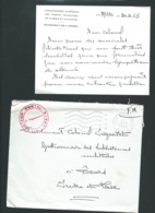 """Cachet Rouge """"Secteur Postal  87.890 Sur Lac  """" Commandement Supérieur Des Force Françaises En Algérie """" RAA1109 - Marcophilie (Lettres)"""