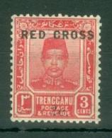 Malaya - Trengganu: 1917/18   Sultan Zain Ul Ab Din 'Red Cross' OVPT   SG19   3c + 2c    MH - Trengganu