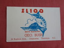 Geo. Bush Ham   Radio-  Tauranga  New Zealand  Ref 3131 - New Zealand